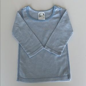 Uniqlo 12-18 month 100% long sleeved striped shirt